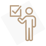Icon of a person with a checkbox