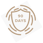 Icon of a shield with 90 days
